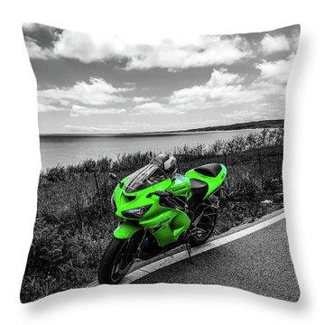 Kawasaki Ninja Zx-6r 2 Throw Pillow