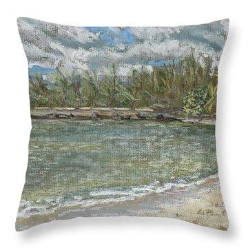 Kawela Bay Throw Pillow by Patti Bruce - Printscapes