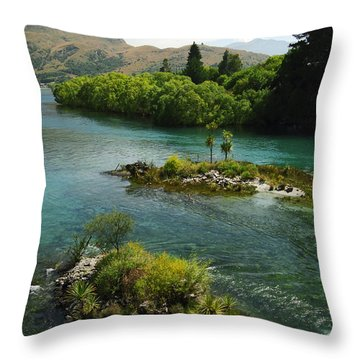 Kawerau River Throw Pillow by Kevin Smith