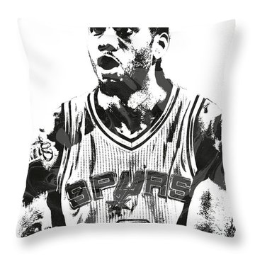 Kawhi Leonard San Antonio Spurs Pixel Art 4 Throw Pillow