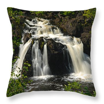Kawishiwi Falls Throw Pillow