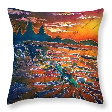 Kayak Serenity  Throw Pillow by Sue Duda