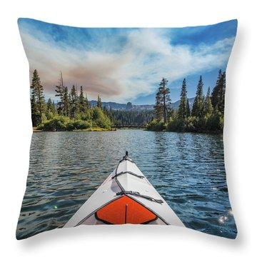Kayak Views Throw Pillow by Alpha Wanderlust