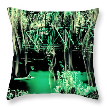 Throw Pillow featuring the photograph Kayaking At Bothell Washington by Eddie Eastwood