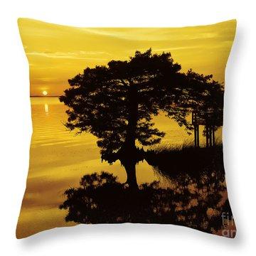 Kayaking At Sunset 2 Obx Throw Pillow