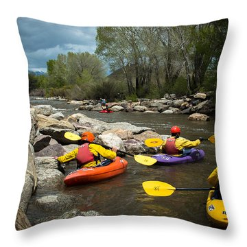Kayaking Class Throw Pillow