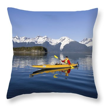 Kayaking Favorite Passage Throw Pillow by John Hyde - Printscapes