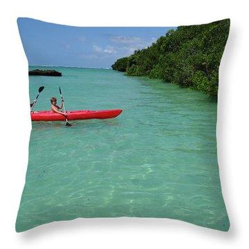 Kayaking Perfection 2 Throw Pillow