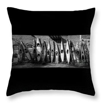 Kayaks And Canoes Throw Pillow