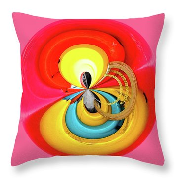 Throw Pillow featuring the photograph Kayaks Orb by Bill Barber