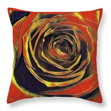 Kayla Rose Throw Pillow