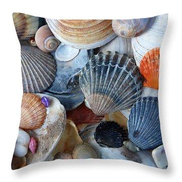 Throw Pillow featuring the photograph Kayla's Shells by John Schneider