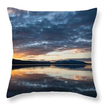 Kayla's Sunset Throw Pillow by Jan Davies