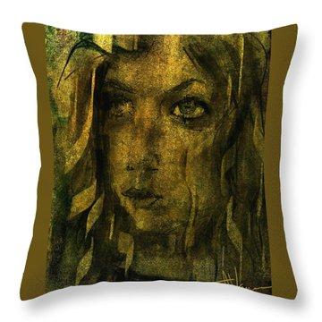 Throw Pillow featuring the digital art Kayleigh by Jim Vance