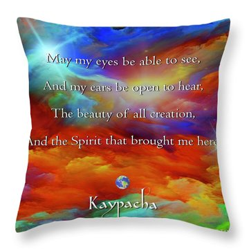 Kaypacha August 17,2016 Throw Pillow