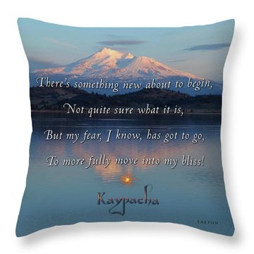 Kaypacha - February 15, 2017 Throw Pillow