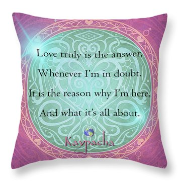 Kaypacha July 6,2016 Throw Pillow