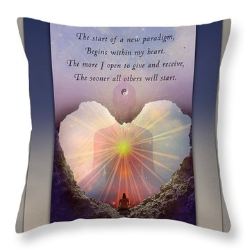Kaypacha Mantra 3.3.2015 Throw Pillow