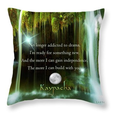 Kaypacha - November 10, 2016 Throw Pillow