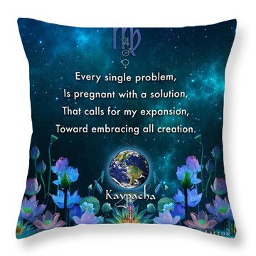 Kaypacha's Mantra 10.28.2015 Throw Pillow