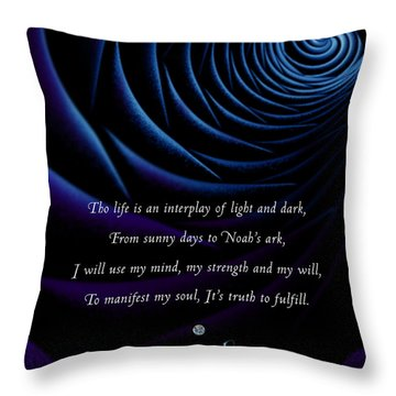 Kaypacha's Mantra 4.28.2015 Throw Pillow