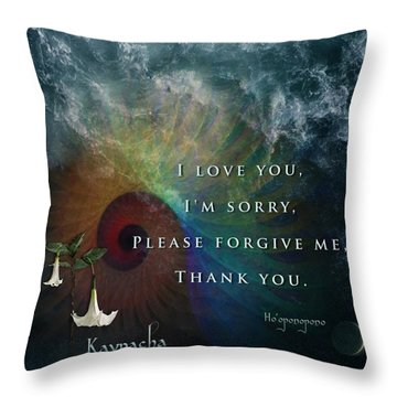 Kaypacha's Mantra 7.15.2015 Throw Pillow