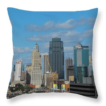 Kc Is Booming Throw Pillow