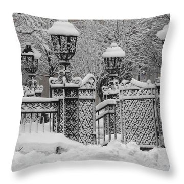 Kc Plaza Is Art In The Snow Throw Pillow