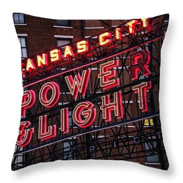 Kc Power And Light Throw Pillow