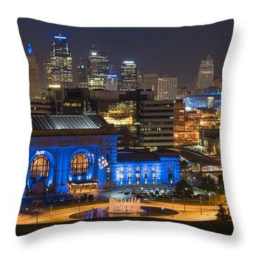 Kc Royal Skyline Throw Pillow