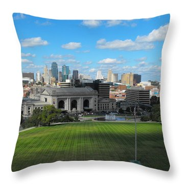 Kc Skyine Throw Pillow