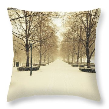 Kc Snow With Parisian Flare Throw Pillow