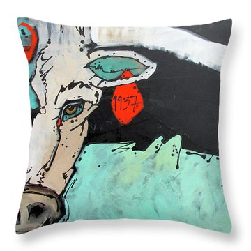 Kcr Longhorn 1937 Throw Pillow