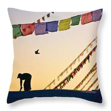 Kdu_nepal_d113 Throw Pillow by Craig Lovell