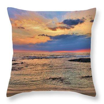 Throw Pillow featuring the photograph Keahuolu Point by DJ Florek
