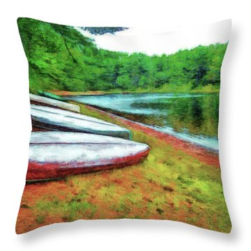 Kearney Lake Beach Throw Pillow