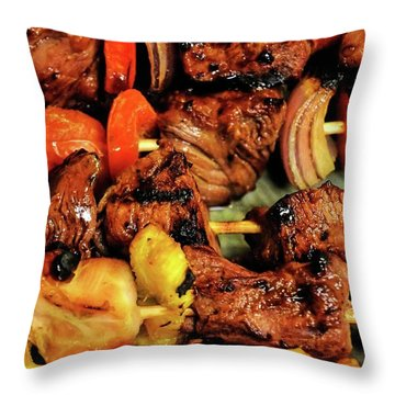 Kebobs 1 Throw Pillow