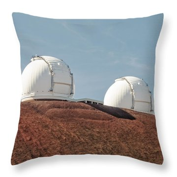 Throw Pillow featuring the photograph Keck 1 And Keck 2 by Jim Thompson