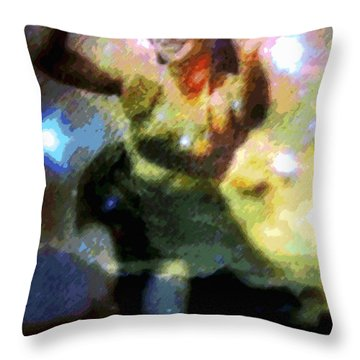 Ke'e Hula Uhane Throw Pillow by Kenneth Grzesik