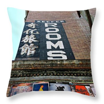 Keefer Rooms Throw Pillow