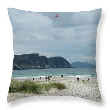Keel Beach Achill  Throw Pillow