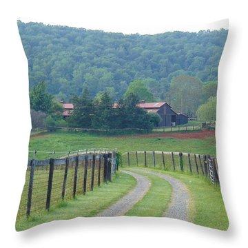 Keelona Farm Throw Pillow