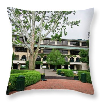 Keeneland Race Track In Lexington Throw Pillow