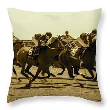 Keenland Sepia Throw Pillow by Dan Hefle