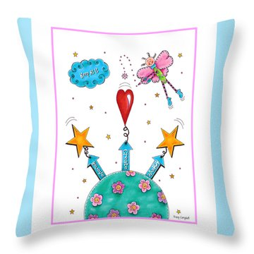 Keep At It Throw Pillow by Tracy Campbell