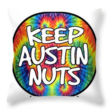 Keep Austin Nuts Throw Pillow