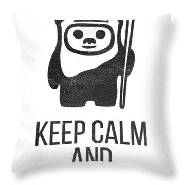 Keep Calm And Yub Nub Throw Pillow