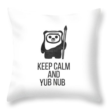 Throw Pillow featuring the drawing Keep Calm And Yub Nub by Edward Fielding