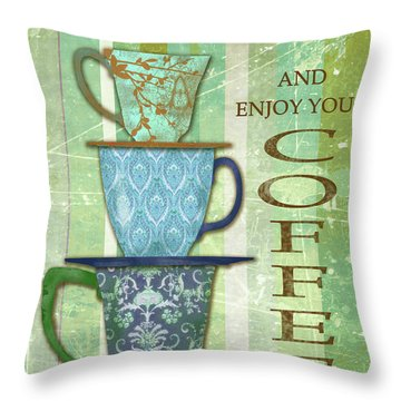Keep Calm Coffee Throw Pillow