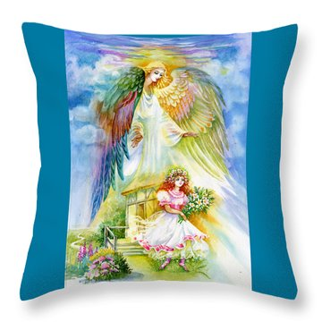 Keep Her Safe Lord Throw Pillow by Karen Showell